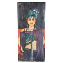 Original Gemälde in Öl Adliger Rajasthan