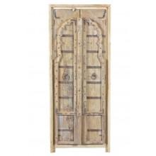 MANGO & TEAK Schrank Indien antike Tür neuer Korpus Virgin wood