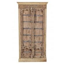 MANGO & TEAK Schrank Indien antike Tür neuer  recycelter Korpus