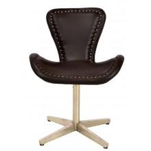 NEU aircraft möbel Aluminium Leder revolving chair Drehstuhl