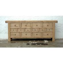 Aus vortrefflichem Holz gefertigtes Sideboard aus China mit Schubladen und Konturen