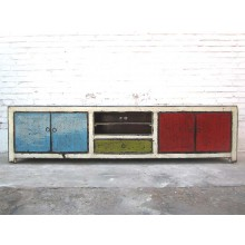 Asien großes buntes Lowboard TV Kommode shabby chic special