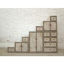 Stufen-Kommode antik finish