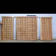Tür beidseitig beschnitzt Bombay Style Indien Mango Holz