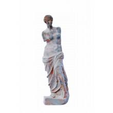 Skulptur Halbakt kleine Statue grünspanfarbig Gusseisen Klassik