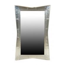 großer Spiegel airrange Rahmen Aluminium poliert airplane recycling