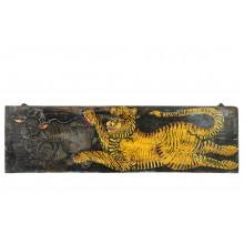 India breites Wandbild mit klassischem Tiger Motiv Asien Kunst Dekoration