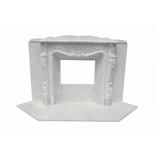 Marmorkamin, Kaminfassade nach Maß massiv Marmor K055