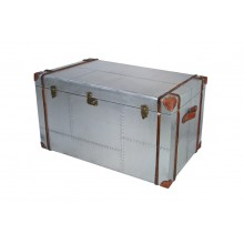 Möbel vintage Alu Truhe Cochtisch aircraft recycling