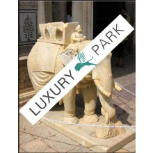 Indien große Elefanten Skulptur Bildhauerei weißer Marmor Sockel