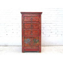 China 1930 Kommode Schubladenturm rotbraun rustikal