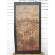 Asien Wandbild brauner Rahmen Beijing ca. 80 Jahre alt Pinie Geschenk