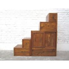 Asien kleine Treppen Kommode Schubladen Country Style holzfarben