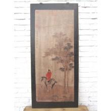 Asien hohes Wandbild schwarzer Rahmen Antik 85 Jahre alt Peking