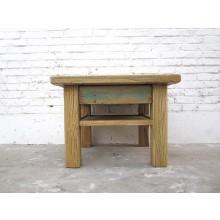 Asien quadratischer Kaffeehaus Tisch Podest Lowboard Antikfinish