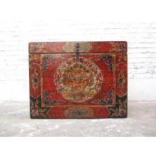Truhe herrlich bemalte Truhe Tibet Asia Zugang rechts Ein Prachtstück von Luxury Park