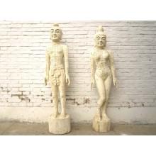 China zwei hölzerne Figuren Mann Frau zur Akupunktur Ausbildung Medizin SD-S-069A