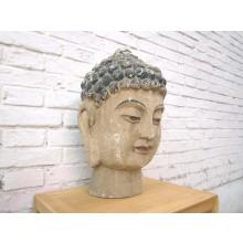 China Buddha Porträt Büste Vollholz 40 Jahre alt