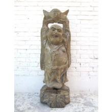Buddha mit Krone China Statue Figur Skulptur Pappelholz 90 Jahre alt von Luxury Park
