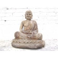 China vor 1920 Meditation Skulptur buddhistischer Mönch Pappel von Luxury Park
