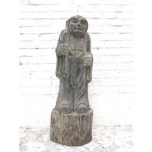 China 1910 stehender Mann Figur Skulptur Pappelholz Expressionismus China 1910 von Luxury Park