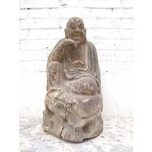 Skulptur Der Denker Mönch buddhistisch Tempelfigur Pappel China 1910 von Luxury Park