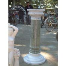 Antik halbhohe Säule für Park klassisch zweifarbiger Marmor