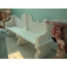 Parkbank weißer Marmor Barock klassische Dekore Steinmetz