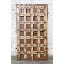 Indien massive Tür antik Teak VI-ED-016
