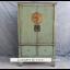 Chinesischer Schrank aus Naturholz im Used-Look mit metallenen Applikationen