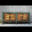 Außergewöhnlichers Sideboard aus Asien mit aufwendiger Bemalung und metallenen Elementen