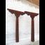 Tibet Säulen Paar Antik 70-80 Jahre alt